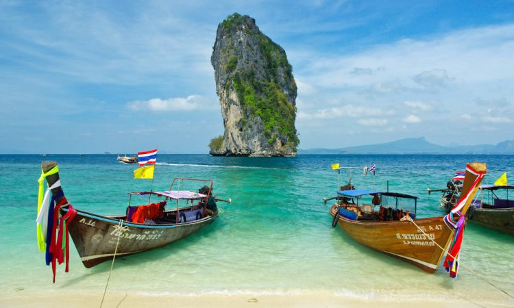 Longtail Boats on Poda Island